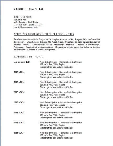 Exemple De Cv Pour étudiant by Resume Format Mod 232 Le Cv Th 233 Matique