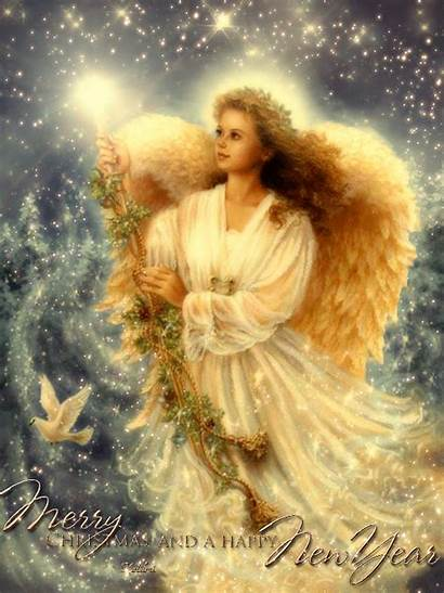 Christmas Angel Merry Angels Gifs Animated Happy
