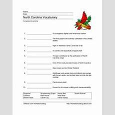 North Carolina Vocabulary 4th  5th Grade Worksheet  Lesson Planet