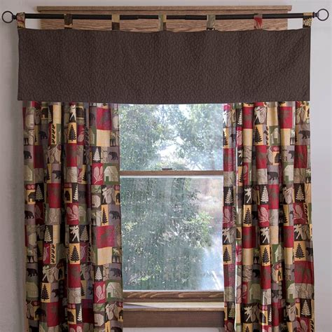 pine cone curtain rustic curtains drapes valances pillows