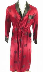 vintage 60s smoking robe men 44 brocade rayon the With robe 44