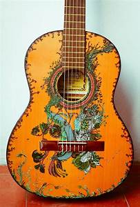 Gorgeous Ink Illustrations Painted on Guitars - My Modern Met
