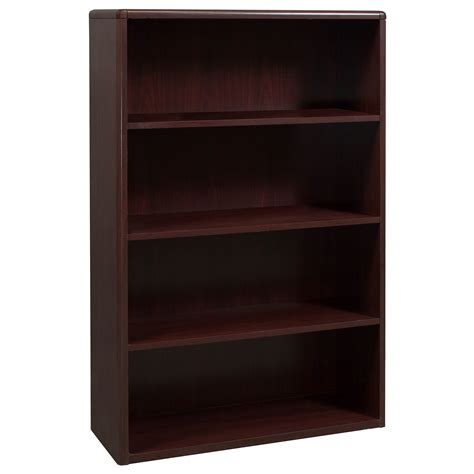 Bookcases And Shelving by Laminate 4 Shelf Used Bookcase Mahogany National Office
