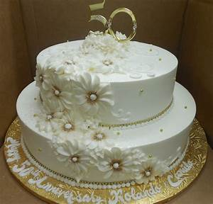calumet bakery 50th wedding anniversary gold daisy 50th With 50th wedding anniversary cake ideas