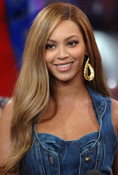beyonce knowles long straight side part hair style hairstyles weekly