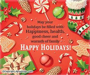 Happy Holidays s and for