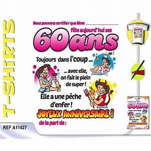 Faire Part Anniversaire 60 Ans : texte carte anniversaire 60 ans humour ~ Edinachiropracticcenter.com Idées de Décoration