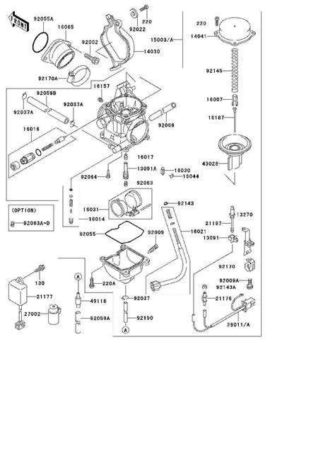 kawasaki bayou 300 carburetor kit circuit diagram maker