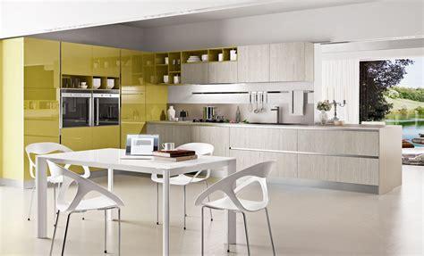 colorful kitchen designs  gloss yellow  light gray