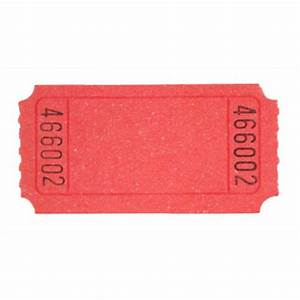 Red Blank Ticket Roll - Tickets & Wristbands - Amols ...