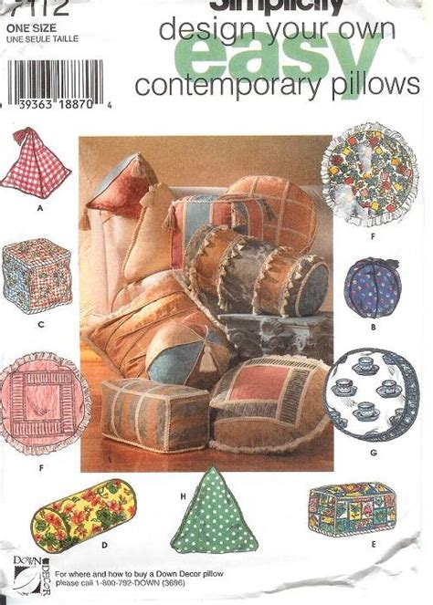 pillows home accessories sewing pattern butterick mccalls