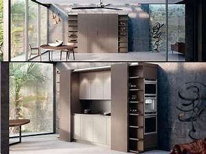 Placards De Cuisine : une cuisine cach e dans un placard elle d coration ~ Carolinahurricanesstore.com Idées de Décoration