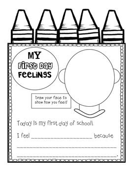 back to school colorful first days unit and craftivity tpt