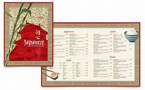 japanese restaurant menu template word publisher With microsoft publisher menu templates free