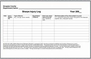 douglas county With sharps injury log template