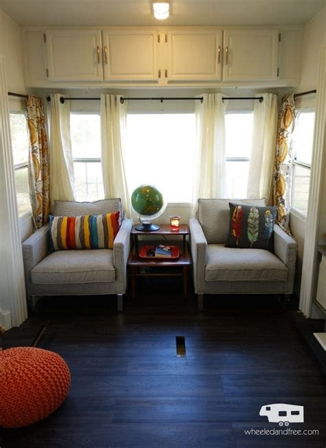 Remodel Ideas For Living Room by Our Rv Fifth Wheel Living Room After The Remodel And