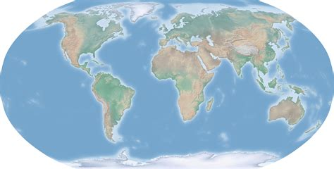 large scale relief map   world world mapsland