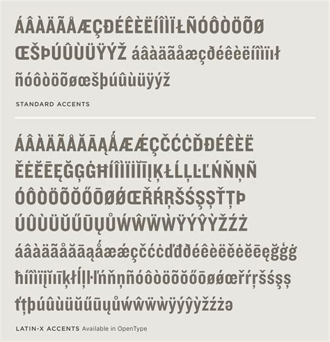 knockout font features language support hoefler co