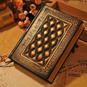 Diary Vintage Relief Tsmip Leather Hard Copy Notepad Note