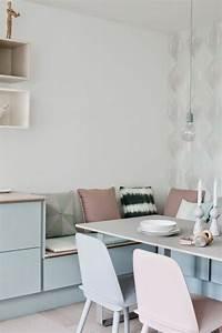 Sitzbank Esszimmer Ikea : sch ne essecke in der k che mit sitzbank und pastellfarben kitchen in 2019 bank k che ~ Orissabook.com Haus und Dekorationen