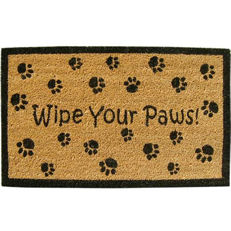 Wipe Your Paws Doormat by Welcome Mat Wipe Your Paws In Doormats