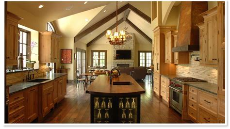 HomeOfficeDecoration   Open country kitchen designs