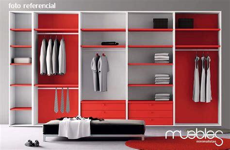 closet minimalista modular fabricado en mdf crudo de