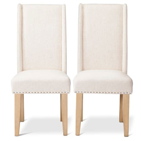 charlie modern wingback dining chair wood