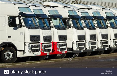 volvo truck dealers uk new volvo trucks at volvo truck dealer england uk stock