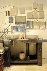 Miroir Bois Salle De Bain : salle de bain esprit de r cup de chine et de vintage mes petites puces ~ Teatrodelosmanantiales.com Idées de Décoration