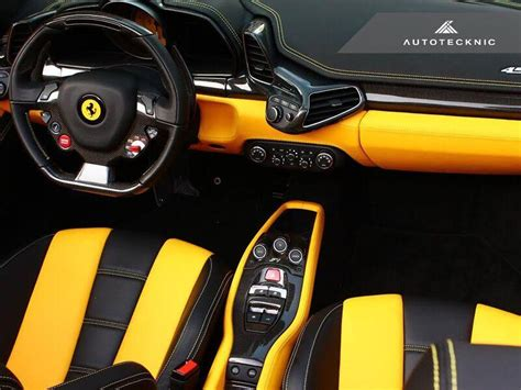 458 Spider Interior by Autotecknic Carbon Fiber Interior Package 458