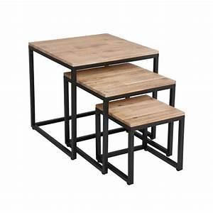 Lot De 3 Tables Basses Gigognes QuotEdenaquot Naturel