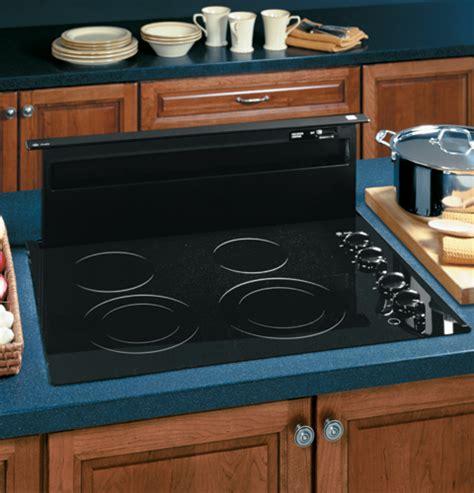 ge profile  telescopic downdraft hood system black latest trends  home appliances