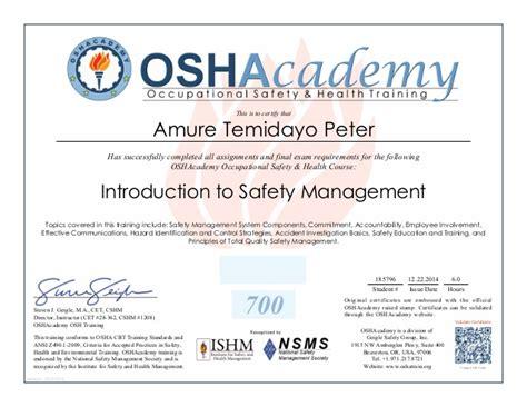osha 10 certificate template osha certification images