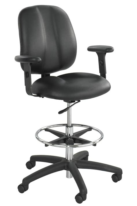 extended height desk chair 7084bl safco apprentice 2 extended height contoured