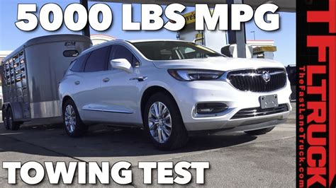 tow  lbs  buick enclave towing test youtube