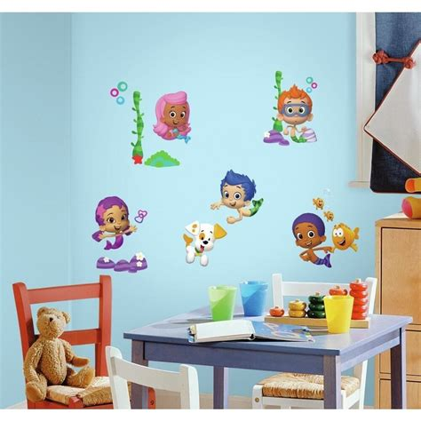 bubble guppies wall decals peel stick stickers kids