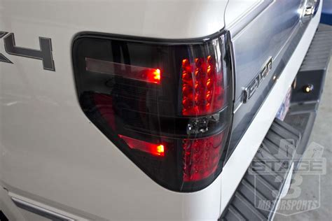 2014 f150 tail lights 2009 2014 f150 raptor recon led tail lights smoked