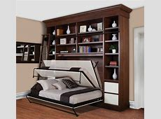 Comfortable Bedroom Design with Murphy Bed Kit Lowes