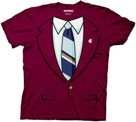 Anchorman I L Shirt by New Anchorman The Legend Of Burgundy Trompe Costume