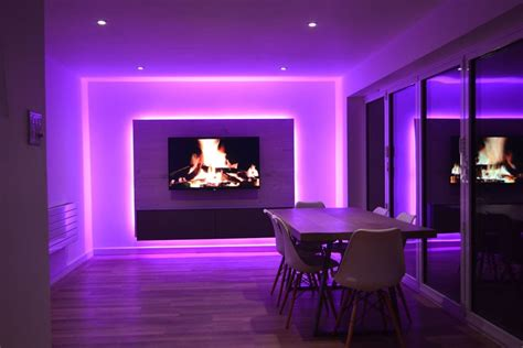 Led Light On Room by Tv Room Lit By Rgbw Leds Media Panel Project Instyle Led