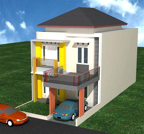 desain rumah minimalis  lantai  biayanya desain