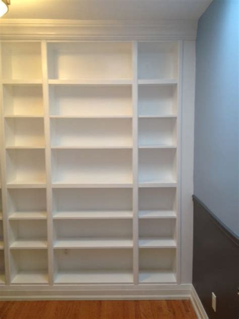 bookcases that look like built ins diy how to install ikea bookcases so they look like built