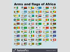 Illustration Of Arms And Flags Of Africa