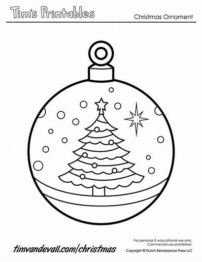Christmas Ornament Printable Paper Ornaments Templates Coloring