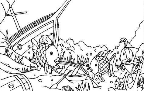 Pin Malvorlagen Ausmalbilder Regenbogenfisch Ausmalen