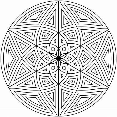 Geometric Coloring Pages Printable Designs Adults