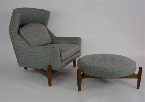 jens risom quot big chair quot with ottoman at 1stdibs