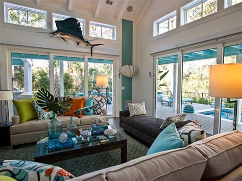 hgtv livingrooms a tufted rug in a moroccan print continues a focus