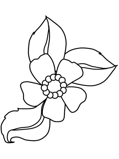 20 gambar mewarnai bunga untuk anak paud dan tk
